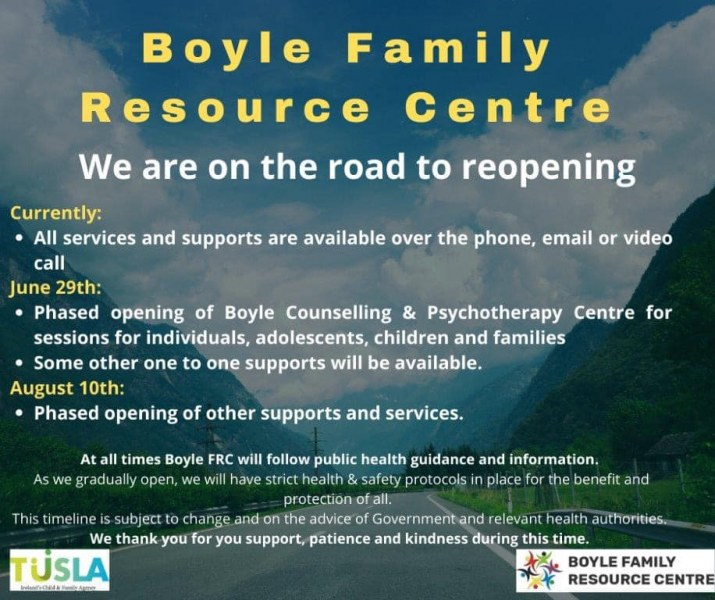 Boyle FRC reopening it's doors over the coming months