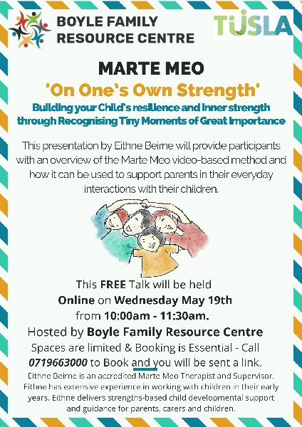 Free Marte Meo Talk for Parents & Carers